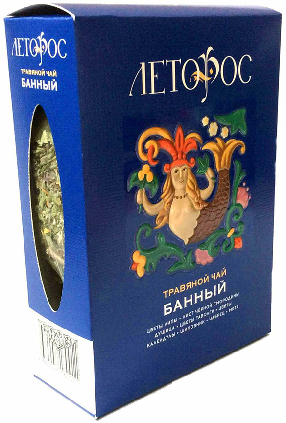 Чай листовой Леторос Банный, травяной, 100 г чай листовой леторос цветочный травяной 100 г