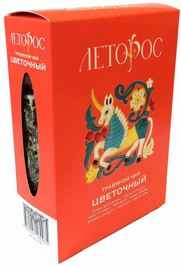 Чай листовой Леторос Цветочный, травяной, 100 г травяной чай лесная фея
