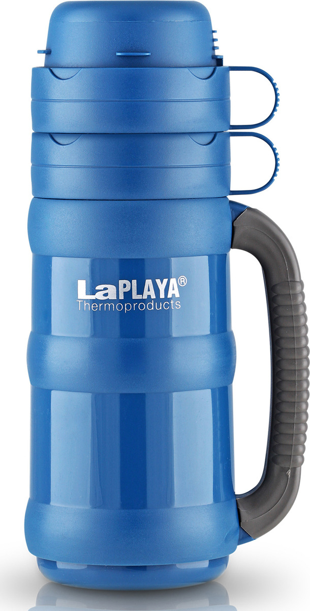 Термос LaPlaya Traditional Glass, цвет: синий, 1,8 л термос 1 л laplaya traditional glass 560008