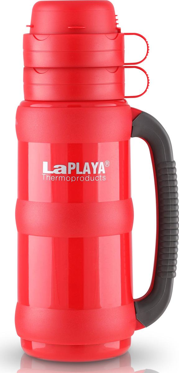 Термос LaPlaya Traditional Glass, цвет: красный, 1,8 л термос 0 5 л laplaya traditional glass 560003