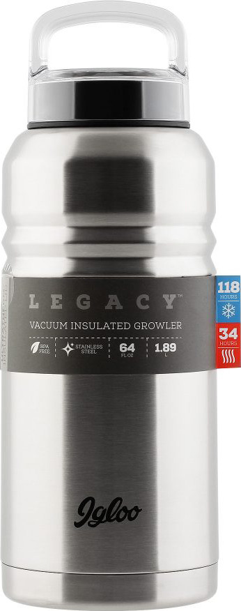 Термос Igloo Legacy, цвет: серебристый, 1,9 л