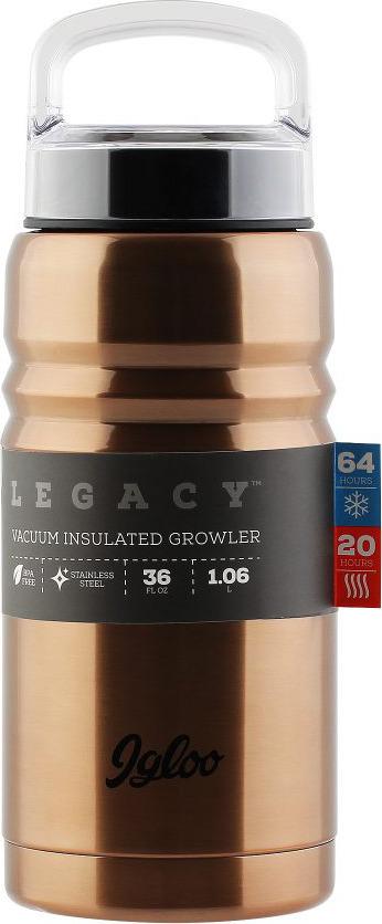 Термос Igloo Legacy, цвет: бронзовый, медный, 1 л