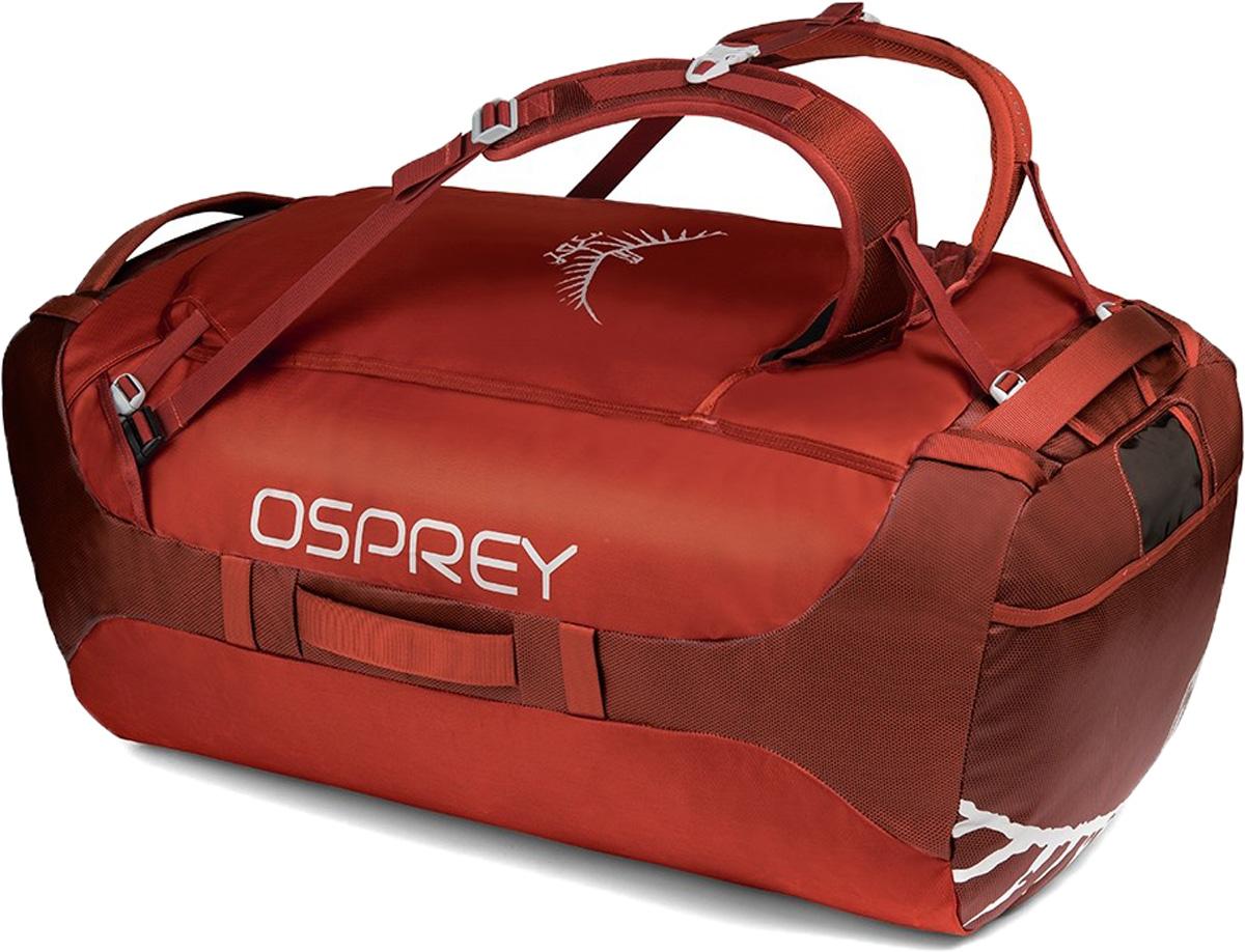 Сумка дорожная Osprey Transporter 130, цвет: красный, 130 л