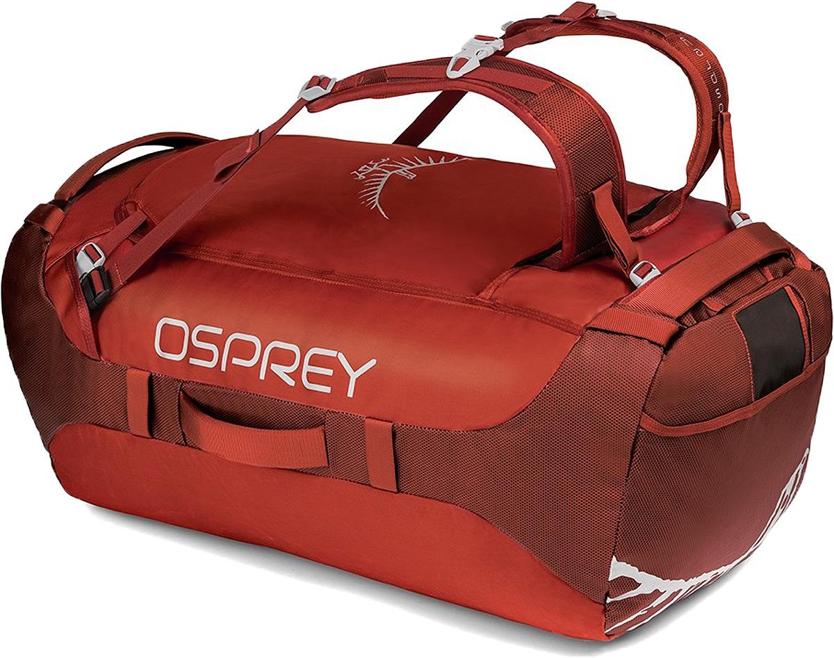 Сумка дорожная Osprey Transporter 95, цвет: красный, 95 л