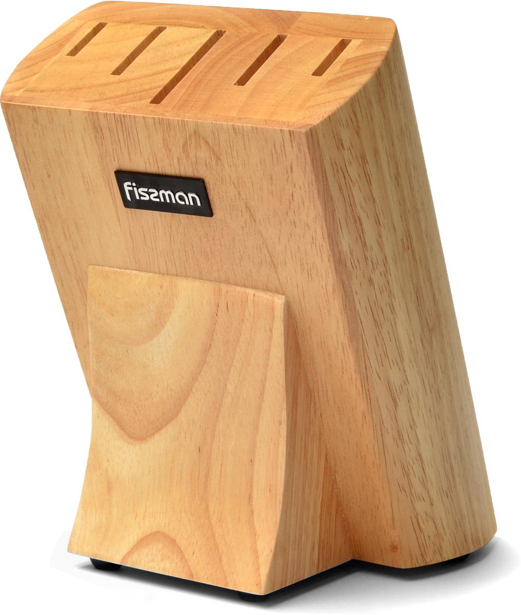 Подставка для кухонных ножей изготовлена из дерева. Традиционная подставка для ножей станет отличным дополнением любого интерьера на кухне. Подставка легко моется, создано удобное расстояние между ножами, препятствующее скоплению загрязнений.