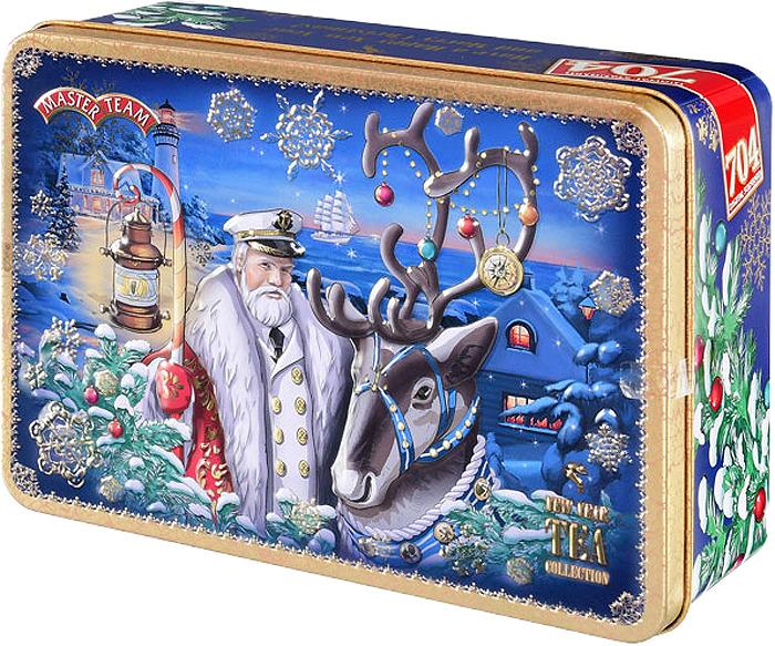 Чайл черный листовой Master Team Новогодняя сказка, подарочный набор, 250 г чай черный байховый бонтон чудесный цейлонский крупнолистовой 731 100 г