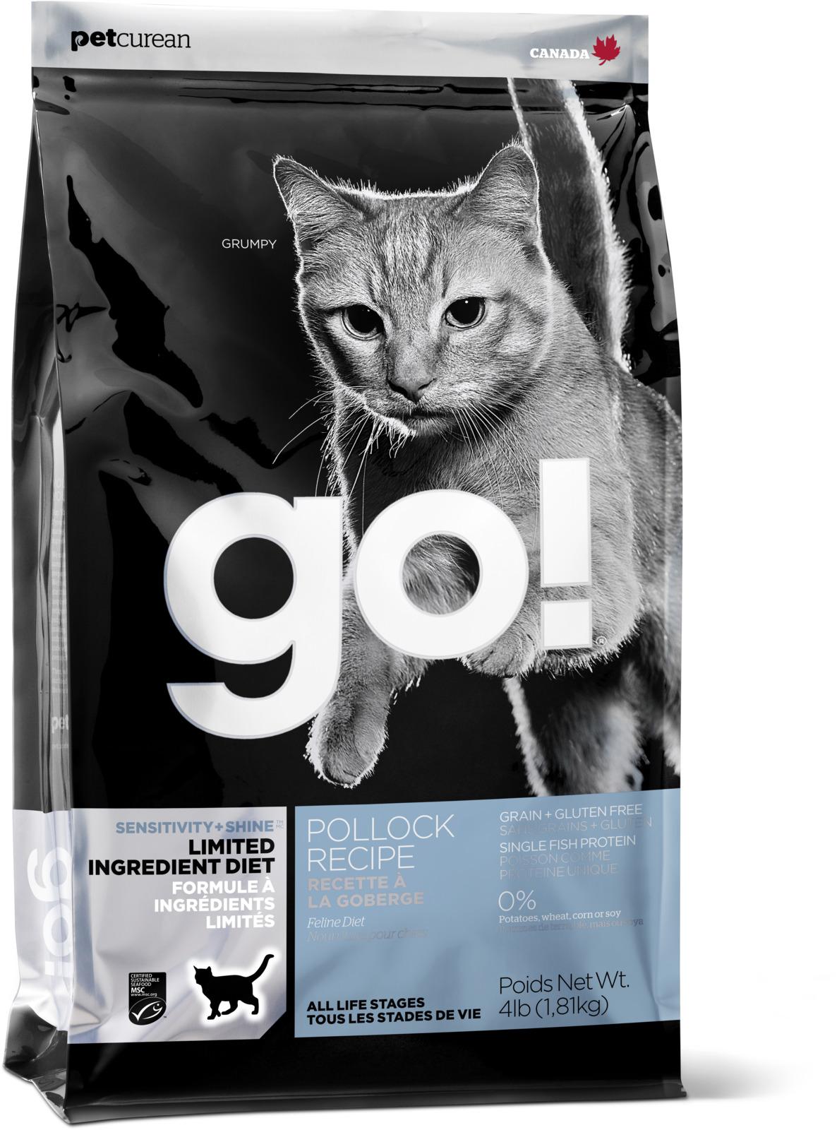 Корм сухой Go Natural, для котят и кошек с чувствствительным пищеварением, беззерновой, с треской, 3,63 кг корм сухой для котят monge cat 10 кг