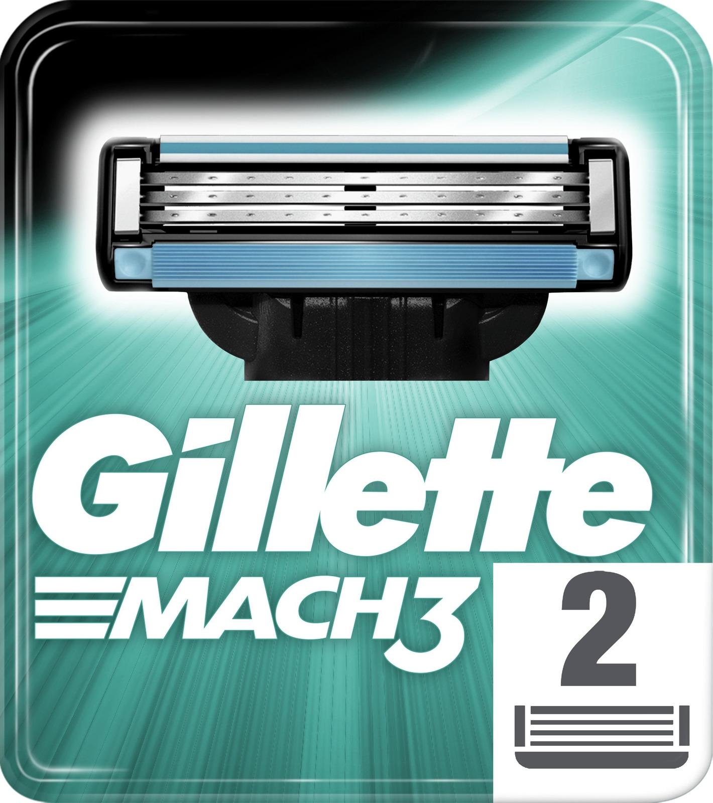 Сменные Кассеты Для Мужской Бритвы Gillette Mach3, 2шт сменные кассеты для бритья gillette mach3 2 шт [81540655]
