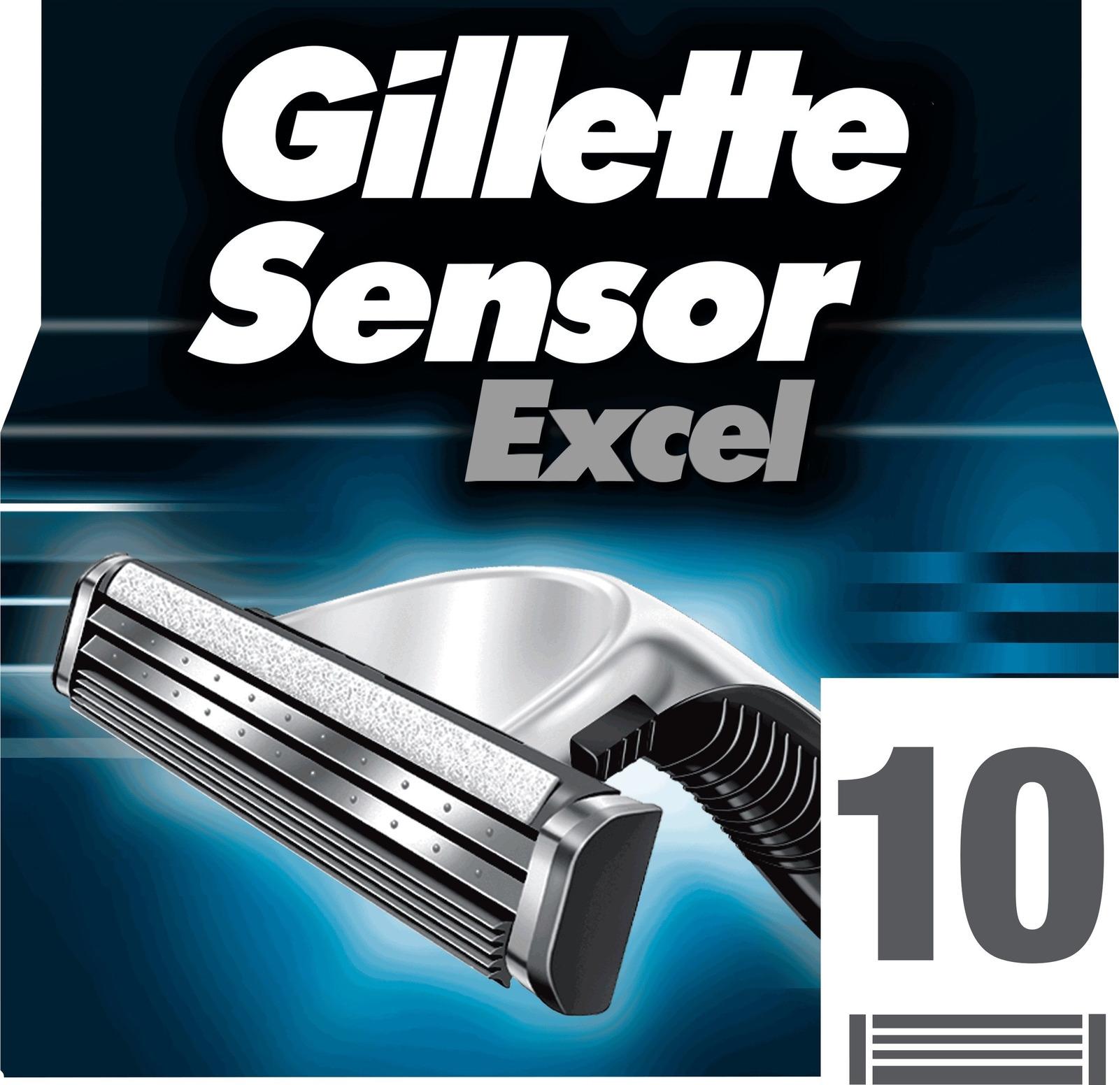 Сменные кассеты Gillette SensorExcel, 10 шт venus embrace сменные кассеты для бритья 2 шт