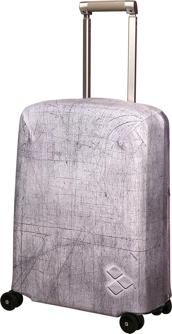 Чехол для чемодана Routemark Silverstone, цвет: серый, размер S (50-55 см)