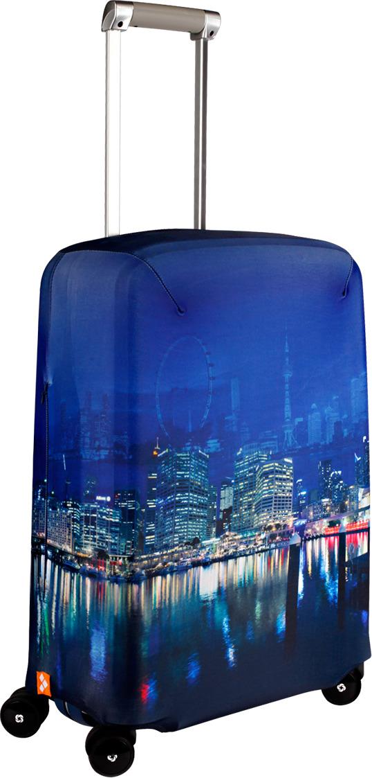 Чехол для чемодана Routemark Voyager, цвет: синий, размер S (50-55 см)