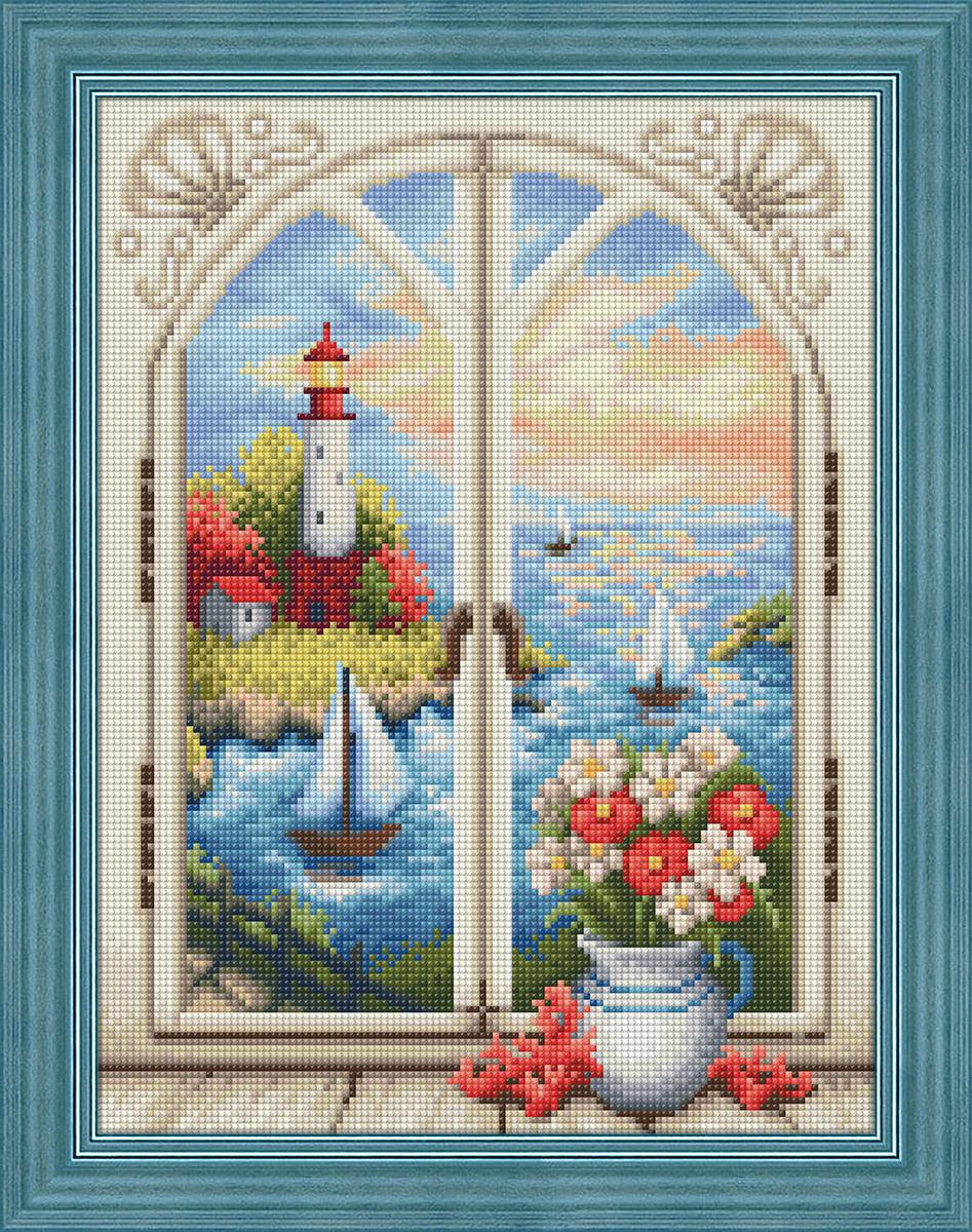 """Набор для изготовления картины со стразами Алмазная Живопись """"Маяк за окном"""", 40 х 30 см"""