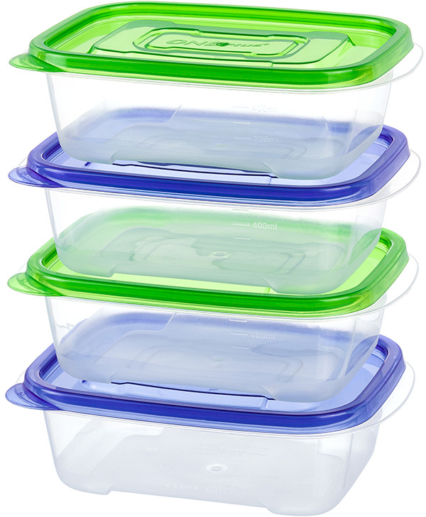 """Пластиковый контейнер для хранения продуктов """"One plus"""" произведены из высококачественных материалов, термоустойчивы, могут быть использованы в микроволновой печи и в морозильной камере, устойчивы к воздействию масел и жиров, не впитывают запах. Удобны в использовании, долговечны, легко открываются и закрываются, не занимают много места, можно мыть в посудомоечной машине. Пригоден для разогрева пищи в СВЧ при t не более +125C, для хранения в морозильнике при t не ниже -24С. Объем 520 мл."""