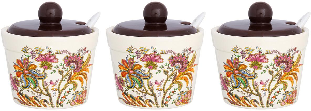 Банка для сыпучих продуктов Elan Gallery Цветочная радуга, с крышкой и ложкой, 6 предметов салатник цветочная радуга
