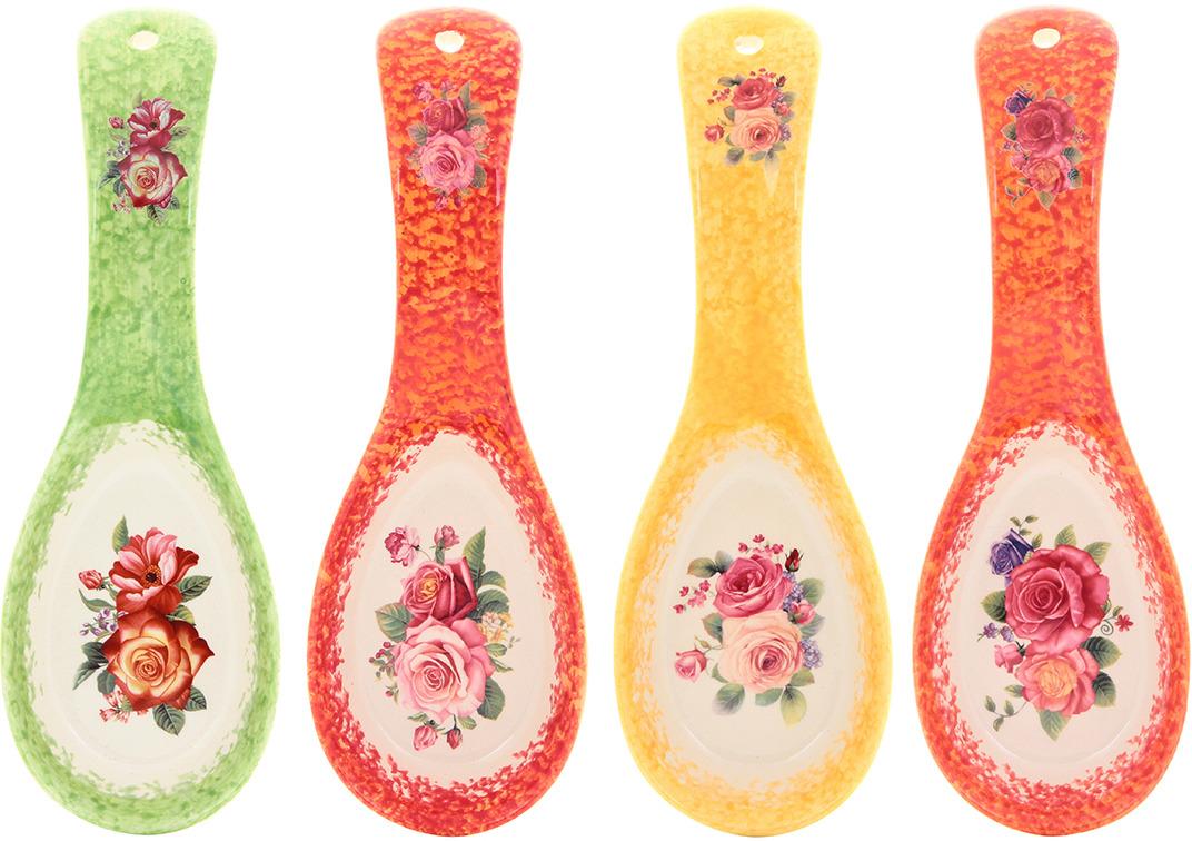 Подставка под ложку в цветочном дизайне станет помощником на кухне и оживит интерьер благодаря веселой расцветке. Изделие имеет отверстие для подвешивания. Изделие имеет подарочную упаковку, поэтому станет желанным подарком для Ваших близких!