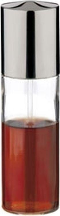 """Распылитель для масла или уксуса """"Tescoma"""" изготовлен из первоклассной нержавеющей стали и стекла. Механический распылитель, замечателен для придания вкуса салатам, при выпечке, жарке, гриловании. Позволяет идеально контролировать количество используемого масла или уксуса. Специальная обработка металлических частей для придания им сильного блеска. Распылитель модного дизайна будет отлично смотреться на Bашей кухне. Характеристики:  Материал: стекло, нержавеющая сталь. Диаметр: 4,5 см. Высота: 17 см. Производитель: Чехия. Артикул: 650346.</ul"""