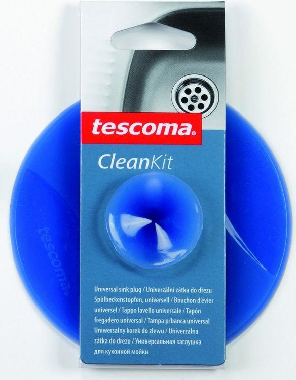 """Заглушка для кухонной мойки Tescoma """"Clean Kit"""" изготовлена из высококачественного силикона. Она отлично подходит для водонепроницаемой герметизации раковины с диаметром слива до 9 см. Устойчива к кипящей воде. После использования, прикрепите на бок раковины, используя присоску.  Можно мыть в посудомоечной машине."""