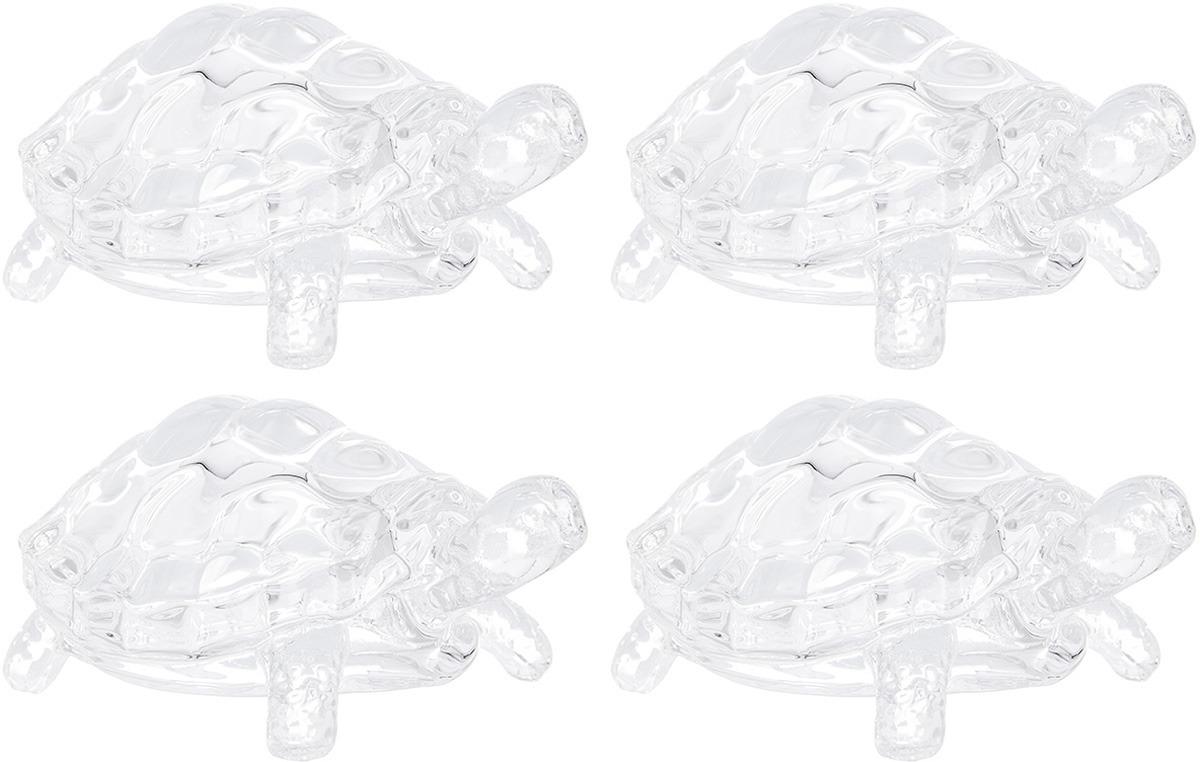 Фигурка декоративная Elan Gallery Черепашка, цвет: прозрачный, 8 х 7 х 3 см, 4 шт фигурка декоративная астра подсолнух 25 х 38 мм 4 шт