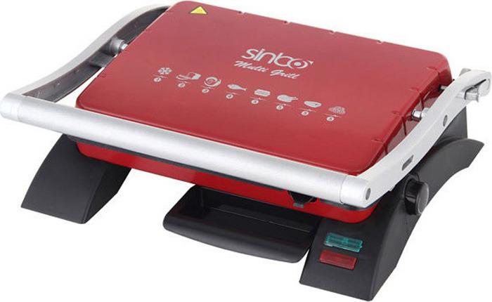 Электрогриль Sinbo SSM 2529, цвет: черный, красный сэндвичница sinbo ssm 2513 черный