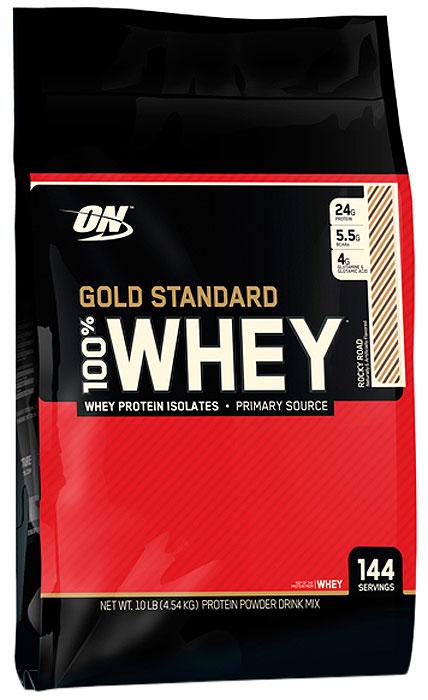Протеин Optimum Nutrition 100% Whey Gold Standard Rocky Road, шоколадная крошка, 4,54 кг