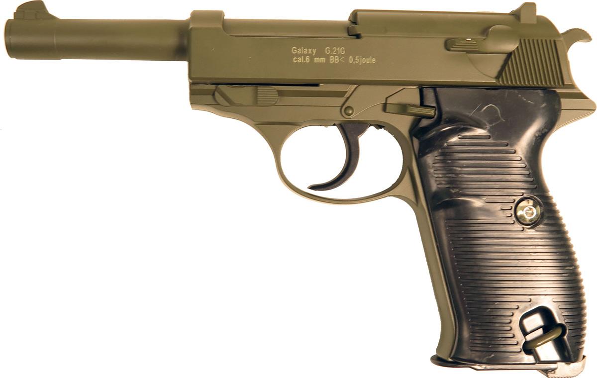 Пистолет софтэйр Galaxy G.21G, цвет: зеленый, пружинный, 6 мм аппарат для приготовления сахарной ваты bradex сладкоежка