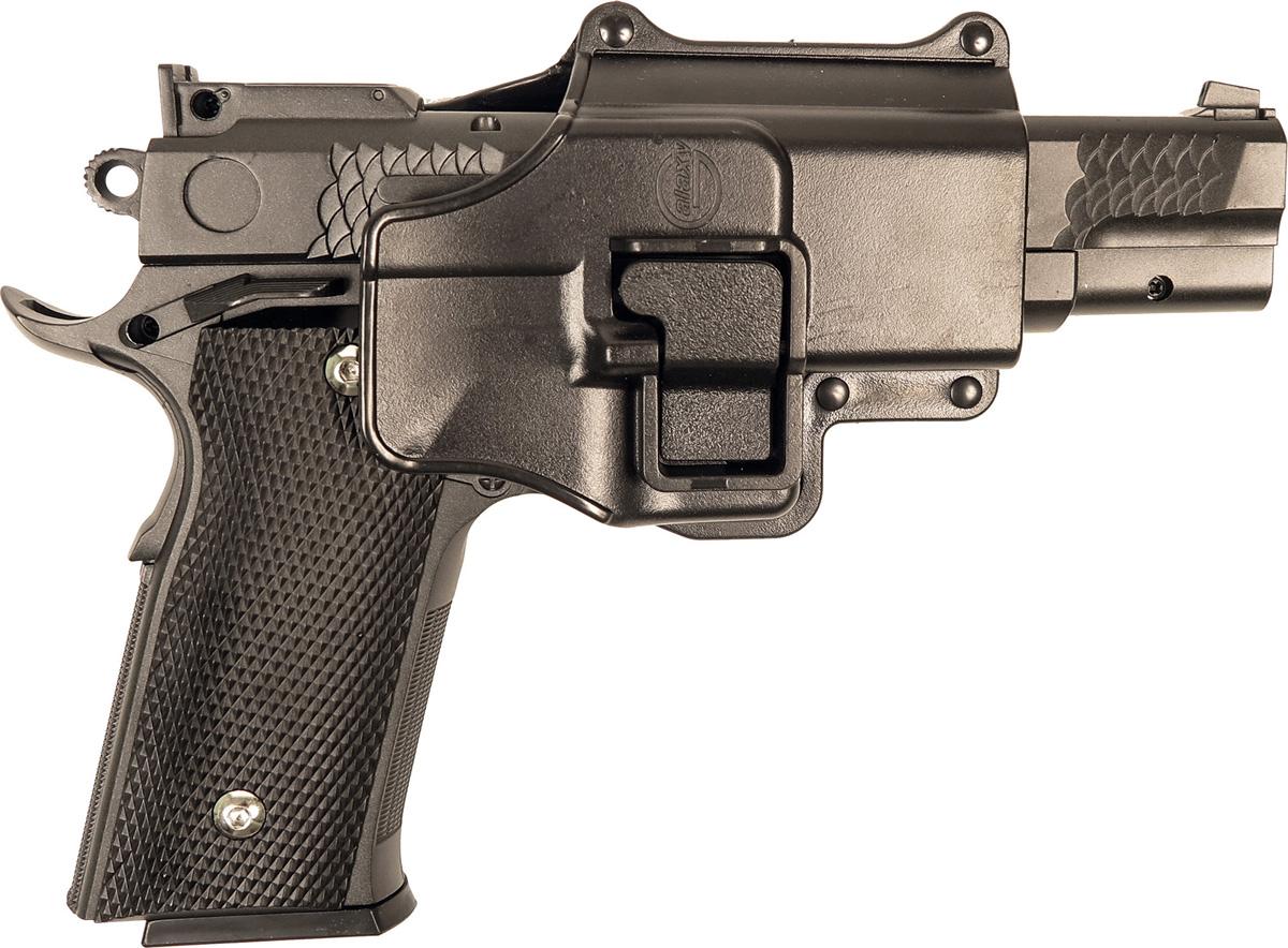 Пистолет софтэйр Galaxy G.20+, с кобурой, пружинный, цвет: черный, 6 мм