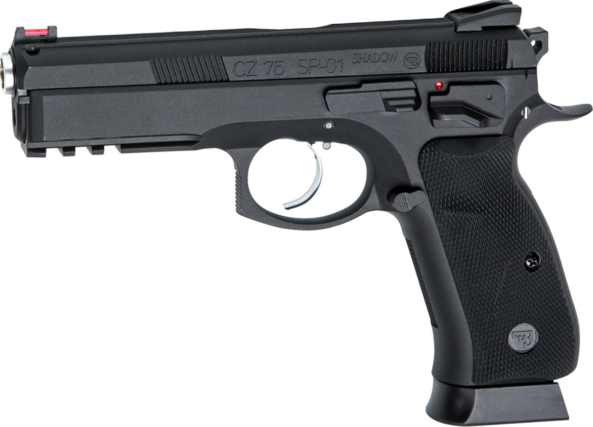 Пистолет софтэйр ASG CZ SP-01 SHADOW (18409), цвет: черный, 6 мм asg cz 75 p 07 duty dt