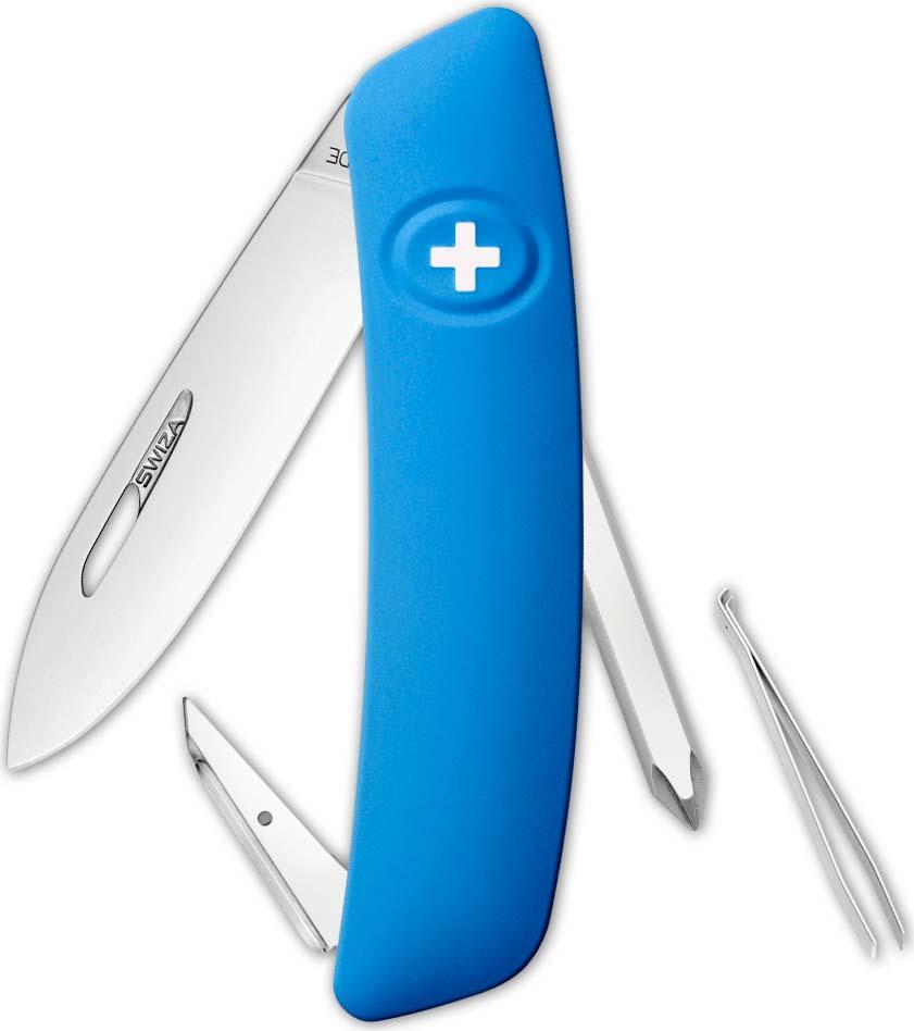 Перочинный швейцарский нож SWIZA D02 Standard, KNI.0020.1031, синий, 95 мм, 6 функций цена