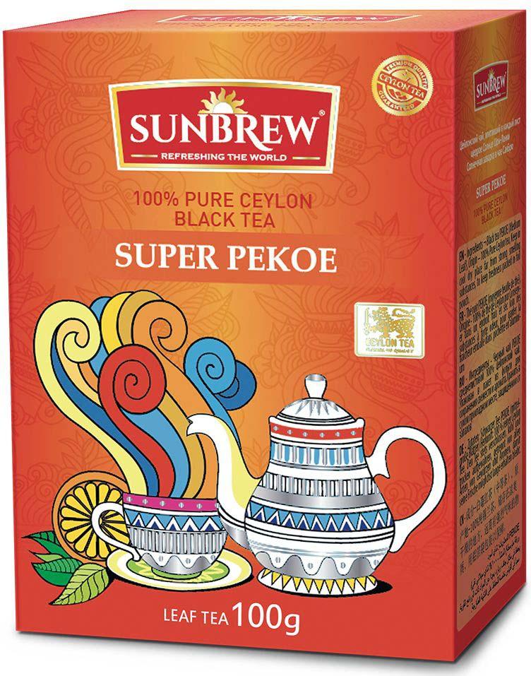 Чай черный Sunbrew Super Pekoe, 100 г черный гречневый чай органический горький гречишный чай здравоохранение травяной чай высшего качества чай травяной чай