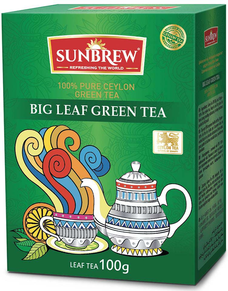 Фото - Чай зеленый Sunbrew Big Leaf, 100 г белка чай infuser сыпучие leaf сито herbal силиконовый фильтр диффузор