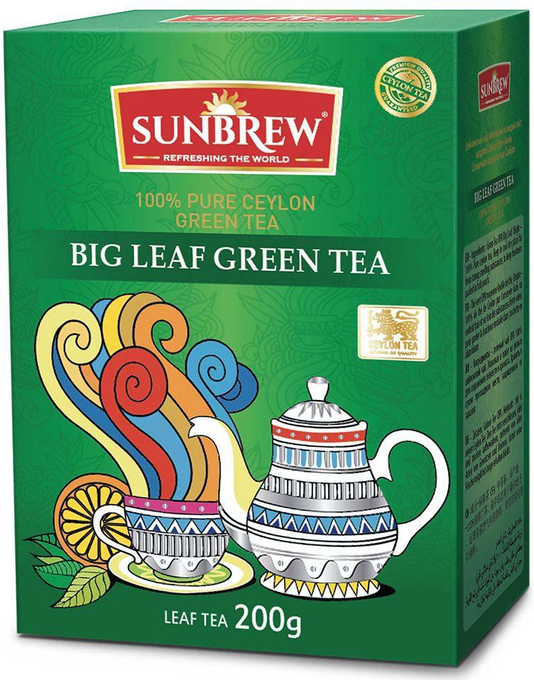 Фото - Чай зеленый Sunbrew Big Leaf, 200 г белка чай infuser сыпучие leaf сито herbal силиконовый фильтр диффузор