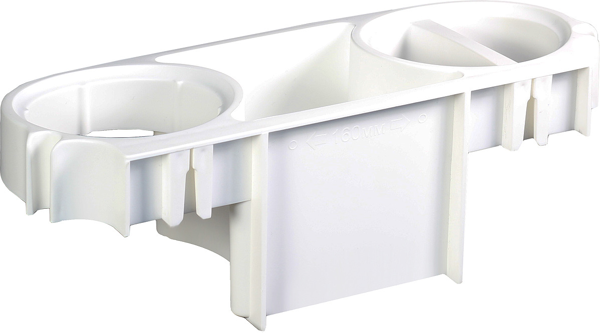 Полка для фена - удобный аксессуар для ванной комнаты.Имеет:- отделение для фена, с ребрами для надежной фиксации;- двойное отделение для щипцов для завивки, утюжков, насадок;- лоток для хранения расчесок, средств для укладки, аксессуаров;- держатели для проводов.Прочная, надежная.Крепится на стену с помощью саморезов (не входят в комплект).Подходит для большинства типов бытовых приборов для волос.