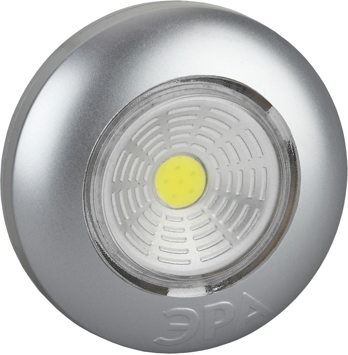 Декоративный фонарь ЭРА Аврора, SB-503, серебристый, самоклеящийся, COB