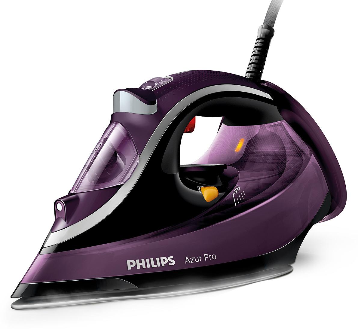 Утюг Philips Azur Pro GC4887/30, паровой,  увеличенным резервуаром, фиолетовый, черный