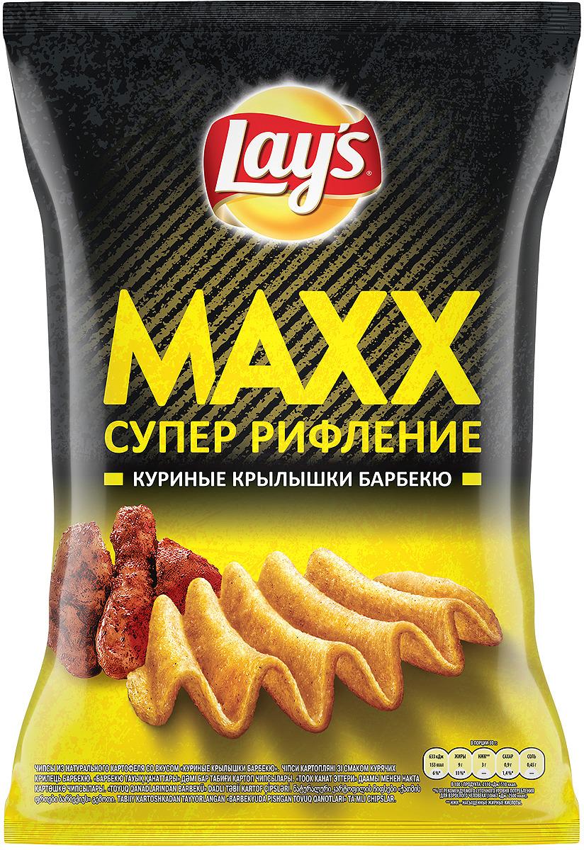Чипсы Lay's Maxx Куриные крылышки барбекю картофельные, 145 г барбекю цена