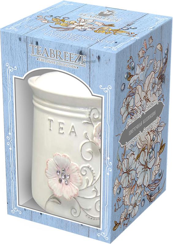 Чай листовой Teabreeze Цветочная коллекция Орхидеи Золотой Ассам в керамической чайнице, 100 г artificial leather splicing lace bandage leggings black