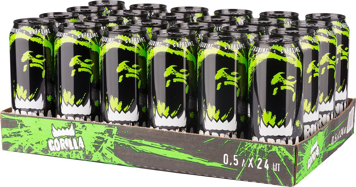 """Энергетический напиток Gorilla """"Зеленый"""", 24 шт по 450 мл"""