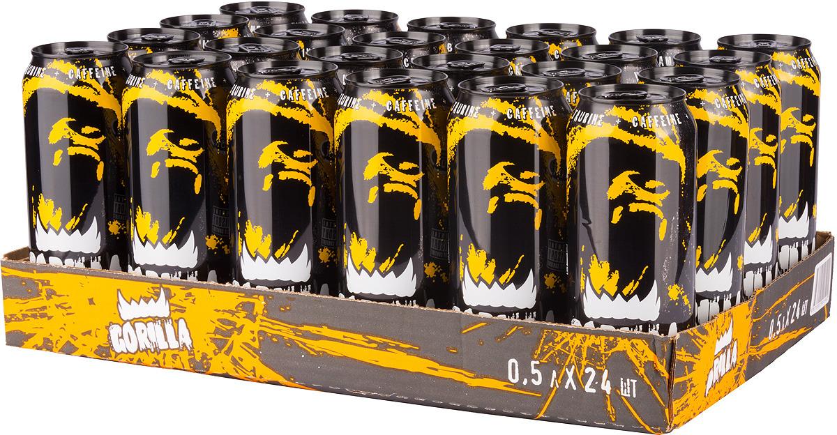 """Энергетический напиток Gorilla """"Апельсин"""", 24 шт по 450 мл"""