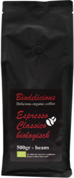 Кофе в зернах Biodelicious Эспрессо Классический, 500 г