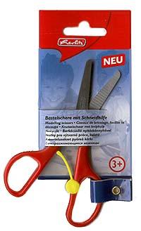 Саморазжимающиеся ножницы, красныеKM-8721-009Саморазжимающиеся ножницы: ножницы с отключаемой возвратной пружиной, которая открывает ножницы после каждого сжатия, эргономичная форма колец.Лезвия выполнены из нержавеющей стали. Длина лезвия 130 мм. Длина лезвия 130 мм. Закрытые лезвия делают их безопасными, а яркие цвета - привлекательными даже для самых маленьких.