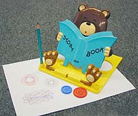 Подставка для книг  Мишка . Голубая -  Подставки для учебников
