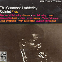 The Adderley quintet, formed in the Spring of 1959 and a soulful success story almost from the start, was a rare example of continuity in the inevitably shifting world of traveling jazz groups. For seven years the band held on to four of its original members, with changes only at the piano chair. One of several fine keyboard players was the British-born (but thoroughly funky) Victor Feldman, also a notable vibraphonist. On this album (one of only two he made with the quintet), there's much emphasis on Victor's vibes. This is made possible by the presence of a distinguished guest, one of Cannonball's favorite pianists (although never a regular bandmember)-Wynton Kelly.