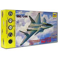 """Первые работы по созданию многофункционального истребителя пятого поколения МиГ-1.44 начались еще в конце 70-х годов. Самолет создавался по формуле """"три С"""": сверхзвуковая крейсерская скорость; сверхманевренность; скрытность. В январе 1999 года публично был показан летный образец. Первый испытательный полет самолет совершил 29 февраля 2000 года. Для того чтобы Ваш ребенок вырос разносторонне развитым, ему необходимо постоянно получать новые знания. Это совершенно несложно сделать в процессе игры. Мы предлагаем ему собрать модель истребителя """"МиГ-1.44"""", которая как нельзя лучше подходит для этого. Игра разовьет усидчивость, аккуратность, пространственное мышление юного конструктора... и наконец, просто пополнит коллекцию его игрушек! Модель изготовлена по лицензии и чертежам ИЦ ОКБ """"МиГ"""""""