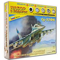 """Бомбардировщик Су - 32ФН создан на базе истребителя завоевания превосходства в воздухе Су-27. Его основные характеристики выше, чем у предшественника: увеличена маневренность, дальность полета и полезная нагрузка. Этот истребитель должен заменить Су-24, находящийся сейчас в строю. На Су-32 значительно изменена носовая часть, двухместная кабина оборудована новейшими системами пилотажа и управления огнем. Длина 23 м, размах крыльев 14,7м, высота 6,1 м, дальность полета 4000 км, вооружение: комплект ракет для поражения воздушных и наземных целей, а также бомбы. Для того чтобы Ваш ребенок вырос разносторонне развитым, ему необходимо постоянно получать новые знания. Это совершенно несложно сделать в процессе игры. Мы предлагаем ему собрать модель бомбардировщика """"Су - 32ФН"""", которая как нельзя лучше подходит для этого. Игра разовьет усидчивость, аккуратность, пространственное мышление юного конструктора... и, наконец, просто пополнит коллекцию его игрушек!"""