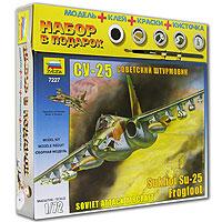 """Первый полет самолета, получившего обозначение Су-25, состоялся в феврале 1975 года. На десяти узлах внешней подвески под крыльями Су-25 может нести до 4,4 тонны боевой нагрузки, включающей в себя бомбы, блоки неуправляемых ракет, ракеты класса """"воздух-поверхность"""" с лазерной системой наведения, контейнеры с пушками. Для того чтобы Ваш ребенок вырос разносторонне развитым, ему необходимо постоянно получать новые знания. Это совершенно несложно сделать в процессе игры. Мы предлагаем ему собрать модель советского штурмовика Су-25, которая как нельзя лучше подходит для этого. Игра разовьет усидчивость, аккуратность, пространственное мышление юного конструктора... и, наконец, просто пополнит коллекцию его игрушек!"""