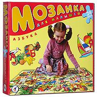 С помощью этой мозаики Вашему ребенку будет намного интереснее самостоятельно изучать азбуку. Крупные и яркие детали привлекают внимание даже самых маленьких детей. Картинку удобно собирать сидя на полу: большие фрагменты рассчитаны на малышей и не потеряются. Игра развивает зрительное восприятие, мышление и мелкую моторику рук, учит подбирать подходящие по форме фрагменты рисунка и складывать целое изображение, знакомит с буквами русского языка.