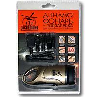 Динамофонарь  Expedition  с подзарядкой для мобильного телефона - Фонари и лампы