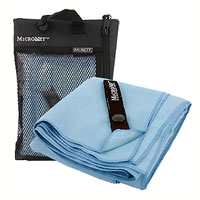 Полотенце Micronet Medium, цвет: небесно-голубой67744Микроволоконное полотенце Micronet™ - это специально разработанная высокоплотная вязаная чрезвычайно компактная ткань с абсолютно уникальными впитывающими и чистящими свойствами. Сверхтонкие (0.2 денье) микроволоконные сплетения быстро сохнут - 90% воды удаляется при ручном отжиме.Удивительно мягкое с максимальной степенью впитывания, микроволоконное полотенце Micronet™ предлагает вам все свойства обычного полноразмерного полотенца в необычайно маленькой упаковке.Ткань обладает повышенным капиллярным действием, впитывая воды примерно в 5 раз больше своего веса, при этом быстро высыхает. Уникальные микроволоконные сплетения является мощным и, в то же время, мягким очистителем. MicroNet™ деликатно и эффективно удаляют жир, грязь и пот с рук, лица и тела. Микроволоконные сплетения не оставляют пыли или ниточек на очках, биноклях, оптических приборах и линзах. Также подходят для полировки мебели.Полотенце MicroNet™ идеально подойдет любителям различных поездок, походов и водных видов спорта. Упокавано в удобный чехол, сделанный из сетки с водоотталкивающей подкладкой. Уход:Постирайте перед первым использованием - машинная стирка в холодной воде с применением моющих средств для цветных тканей. Машинная или ручная стирка в теплой воде. Не используйте отбеливатель. Отожмите руками и повесьте сушиться или сушите в сушильной машине при низкой температуре. Характеристики: Размер: 51 см х 102 см . Цвет: небесно-голубой. Материал: 100% полиэстер.