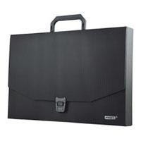Папка-портфель черного цвета применяется для хранения и транспортировки документов и материалов. Оснащена специальным пластиковым замком. Папка обеспечит вам надежную защиту документов в течение длительного времени. Папка-портфель изготовлена из высококачественного пластика.