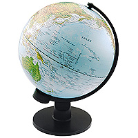 Глобус с физической картой мира. Диаметр 30 см1306274Глобус с физической картой мира на удобной подставке, вращается вокруг собственной оси. Изготовлен из высококачественного пластика. Яркие цвета и точная картография. Все географические обозначения даны на русском языке.